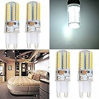 ECCPP G9 LED電球 40Wハロゲン相当 ナチュラルデイライトホワイト 4000K G9ベース G9電球 スポットライトランプ ホーム照明 シーリングファン シャンデリア 寝室用 4個パック