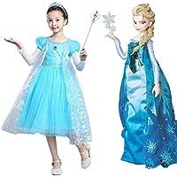 4be5e93a2d97e アナと雪の女王 エルサ風 ドレス プリンセス 子供用 コスプレ ワンピース 演劇ドレス 女の子