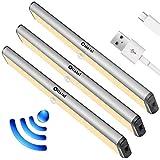 Under Cabinet Lights,10 LED Motion Sensor Lights, Night Light,Led Battery Lights,Motion Led Light Bar, USB Rechargeable Magne
