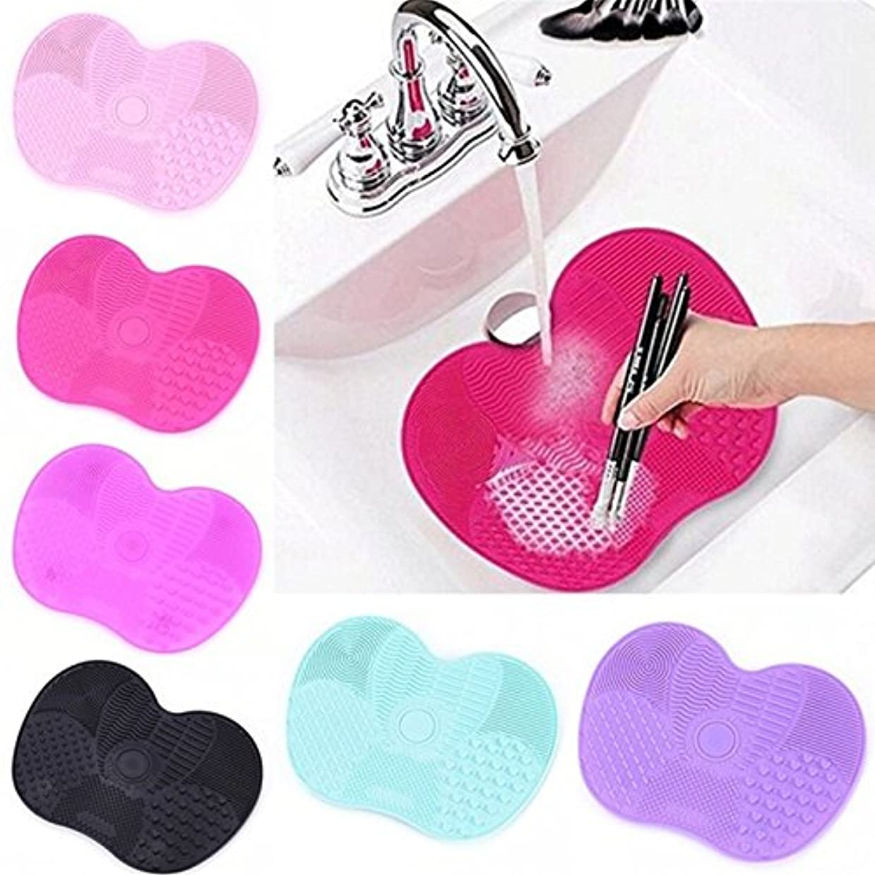 メロディアス犯罪苦行Makeup Brush cleaner Silicone Mat Make Up Washing Brushes Cosmetic Gel Board Cleaning Pad Cleaner Scrubber Tools...