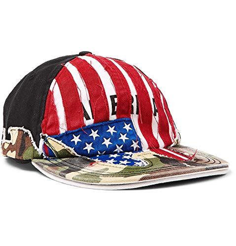 (ヴェトモン) Vetements Reebok Distressed リーボックディストレスドコットンツイルベースボールキャップ Baseball Cap (並行輸入品)