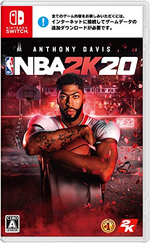 NBA 2K20 -Switch (【予約特典】デジタルアイテムダウンロードコード(ゲーム内通貨 5,000VC/5,000 MyTEAMポイント/MyCAREER スキルブースト5個/MyPLAYER 服装カプセル/毎週1個受け取れるMyTEAMリーグパック10個/NBAシーズン開始時より毎週1個受け取れるヒートチェックパック5個) 同梱)