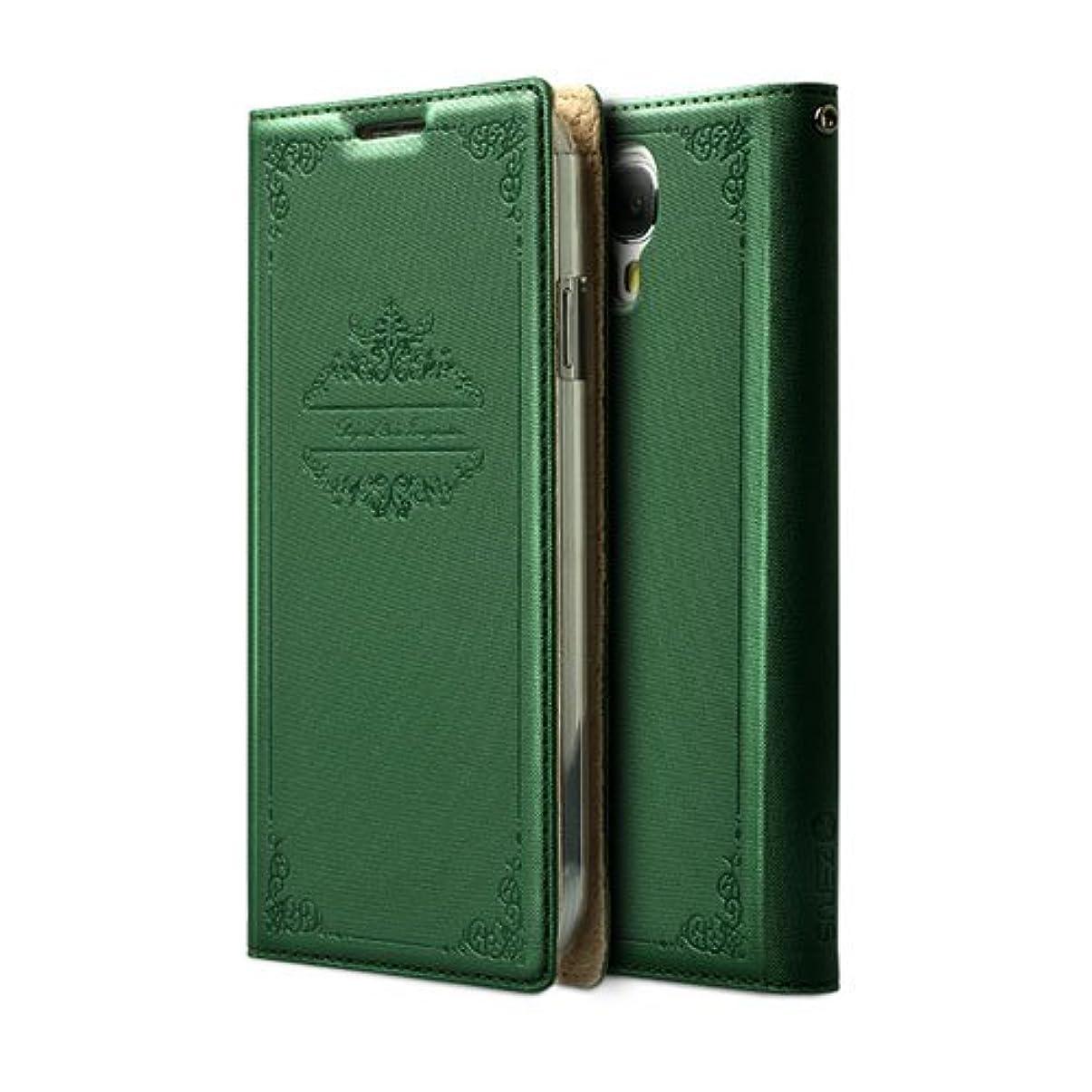 溶かす休日立ち寄る【日本正規代理店品】ZENUS Galaxy S4 SC-04E ケース Masstige Story Book Diary グリーン 手帳タイプ 自動on/off対応 Z1978GS4