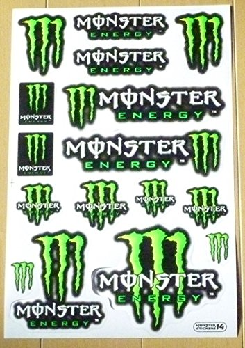 モンスターエナジー MONSTER ENERGY ステッカー セット Sticker Set グリーン Green TS-12