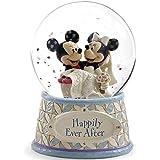 ディズニー スノードーム ミッキーマウス ミニーマウス ウォーターグローブ 120mm 「結婚祝い」 ウェディング 木彫り調フィギュア ディズニー?トラディション