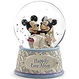 ディズニー スノードーム ミッキーマウス ミニーマウス ウォーターグローブ 120mm 「結婚祝い」 ウェディング 木彫り調フィギュア ディズニー・トラディション