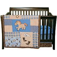 Trend Lab 3 Piece Crib Bedding Set, Cowboy Baby by Trend Lab