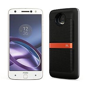 Motorola(モトローラ)SIMフリースマートフォン Moto Z (ホワイト / 64GB / Mods ブラック スピーカー 付)