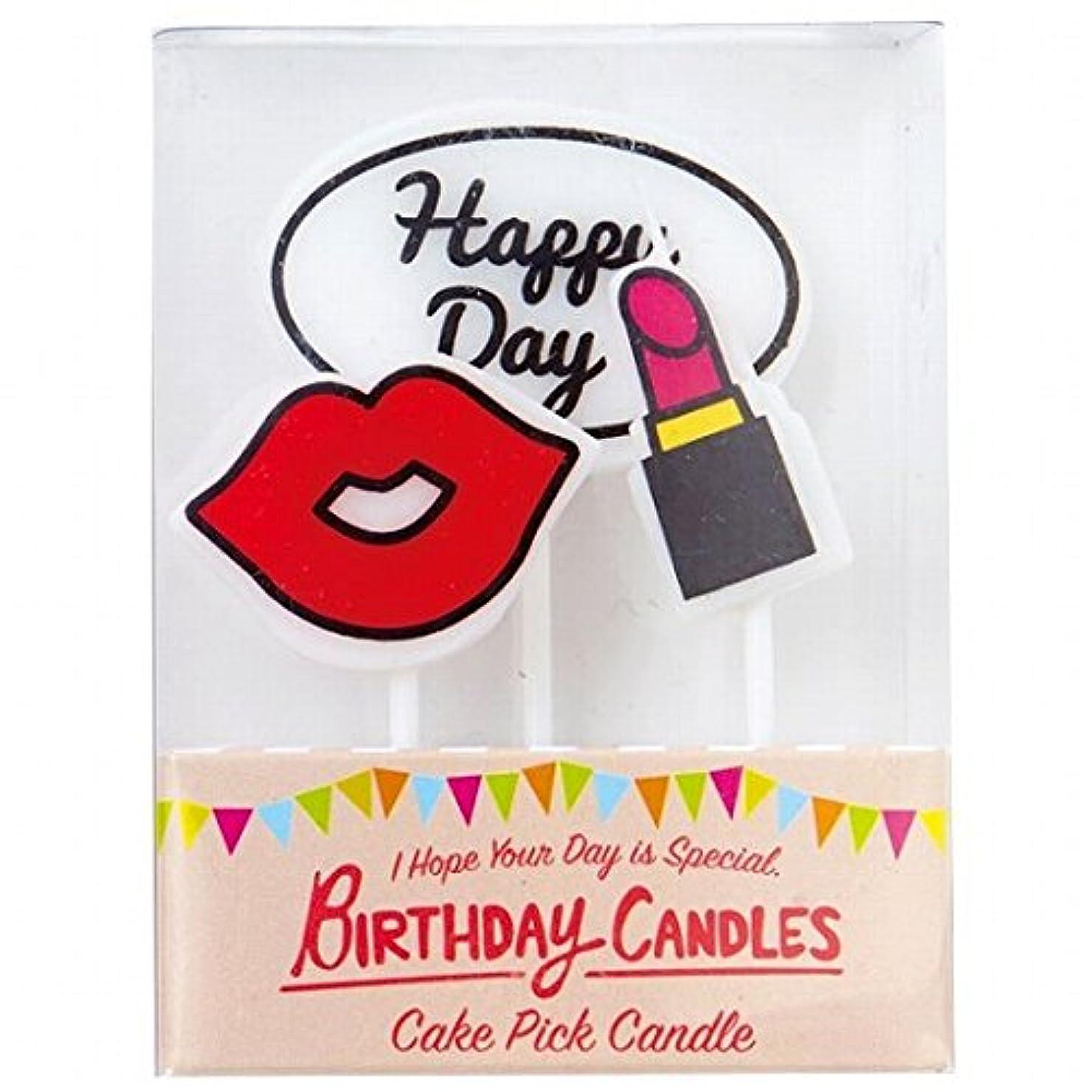 引退したポゴスティックジャンプ笑カメヤマキャンドル(kameyama candle) ケーキピックキャンドル 「レディ」