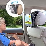 TFY タブレット車載用ヘッドレストホルダー マウント 留め金で角度調整可能
