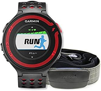GARMIN(ガーミン) ランニングGPS ForeAthlete 220J ブラック/レッド 心拍ベルト付セット Bluetooth対応 【日本正規品】 114765