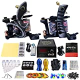 タトゥーマシンメイクアップキットタトゥーマシンセットツールバッグ電源20針グリップアーティストタトゥー用品TK202-25