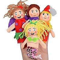 Finger Puppet、elevin ( TM ) 4pcs子供キッズベビー男の子女の子指おもちゃHand Puppetsクリスマスギフト教育玩具とは誤って