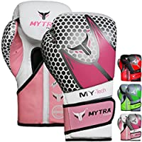 Mytra Fusion my-techリアルレザーボクシンググローブ10oz 12oz 14オンス16オンスのボクシンググローブTraining Punching Sparring Punching Bagボクシングバッグパンチバッググローブミットムエタイキックボクシンググローブ ピンク
