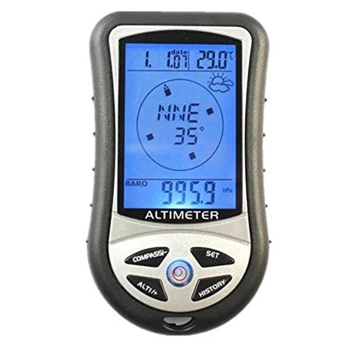 Zehui温度計8in 1多機能デジタルLCDコンパスポー...
