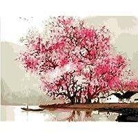 DIY PBN-paint by number Sakura 16X20 inches Frameless. by ES Art [並行輸入品]