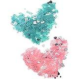 Prettyia クラッカー 2袋 約14g /袋  ベビーシャワー プラスチック 紙吹雪 パーティー デコレーション ピンク+緑