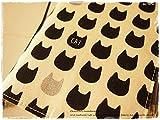 手帳カバーほぼ日手帳オリジナルサイズ対応A6手帳カバー 生成り モノクロにゃんこ 猫 黒猫 CAT