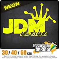JDM All Stars - 3つのサイズで利用できます 15色 - ネオン+クロム! ステッカービニールオートバイ