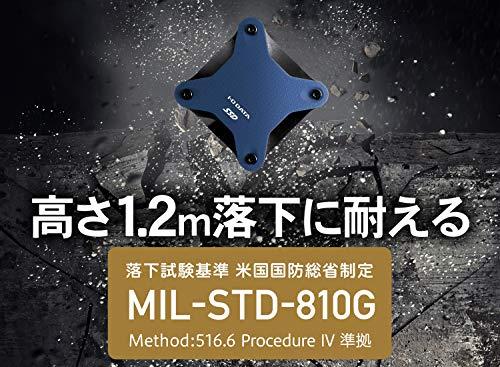 『I-O DATA ポータブルSSD 960GB 小型 USB3.1(Gen1) 耐衝撃 Mac PS4 バスパワー対応 SSPH-UA960NV/E』の5枚目の画像