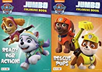 Paw Patrol Jumbo Colouring and Activity Book - Rescue Pups / Ready for Action [Set of 2 Books] - v1