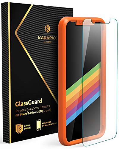 Anker KARAPAX GlassGuard iPhone X用 強化ガラス液晶保護フィルム【3D Touch対応 / 硬度9H / 飛散防止】
