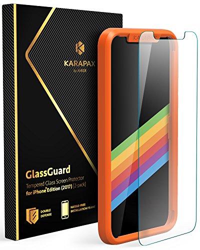 Anker KARAPAX GlassGuard iPhone X用 強化ガ...