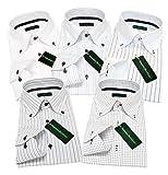 (グリニッジ ポロ クラブ) GREENWICH POLO CLUB ワイシャツ 5枚セット ボタンダウン 白 pa M-ゆったりレギュラー