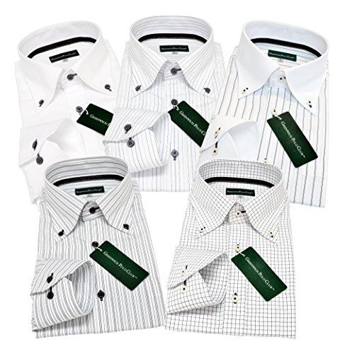 (グリニッジポロクラブ)GREENWICHPOLOCLUBワイシャツ5枚セットボタンダウン白paM-ゆったりレギュラー