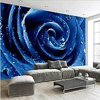 Xueshao 花3D壁紙壁画不織布壁紙赤青リビングルーム寝室の壁紙家の装飾現代-150X120Cm