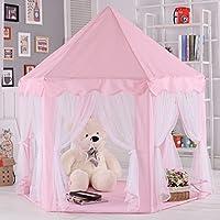ポータブルCastle Play Tent ChildrenアクティビティFairy House Kids Funnyインドア&アウトドアPlayhouseビーチテントベビーPlaying Toy Perfect Gift for Kids (ピンク)