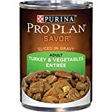 Purina Pro Plan Gravy Wet Dog Food, Savor Slices in Gravy Turkey & Vegetables Entree - (12) 13 oz. Cans