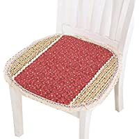 椅子クッション イス座布団 スツールカバー 椅子用 座面カバー  チェアカバー パソコンチェアクッション  事務椅子クッション 快適 45*45cm(赤い)