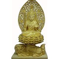 仏縁堂ブランド:仏像・柘植高級彫淡彩切金・文殊菩薩1.5寸