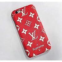 多機種対応 Supreme アイフォン iphoneケース 携帯カバー  レッド  (i7/i8)