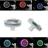 「SUNPIE」led ホイール 車輪 タイヤ イルミネーション 15パターン 防水ソーラー発電 センサー付き 2セット