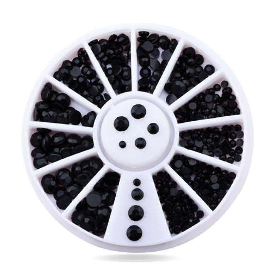 プランター嘆願簡単なArtlalic 3Dラインストーン黒の宝石の形の爪のジュエリーDIYネイルアートツールセット