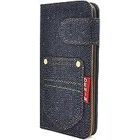 PLATA iPhone7ケース 手帳型 デニム スタンド ケース IP7-5050-A