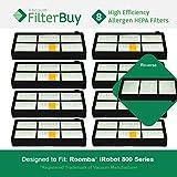 8–iRobot Roomba 800900シリーズAeroforceフィルタ。Designed by FilterBuy to Replace iRobot Roomba 800& 900シリーズAeroforce..