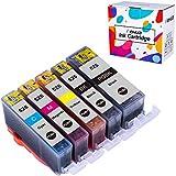 Weemay 5Pack Compatible for Canon PGI-525 CLI-526 Ink Cartridge for Canon PIXMA MG5150 MG5250 MG5350 MG6100 MG6150 MG6250 MG8100 MG8150 MG8250 MX715 MX885 MX895 IP4850 IP4950 IX6550 (BK,PBK,C,M,Y)