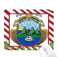 コスタリカの国章の国 ゴムクリスマスキャンディマウスパッド