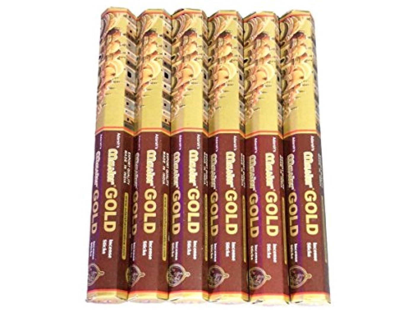 正統派スロー六月ADARSH AROMATICS(アダーシュアロマティクス) マスターゴールド香 スティック MASTER GOLD 6箱セット