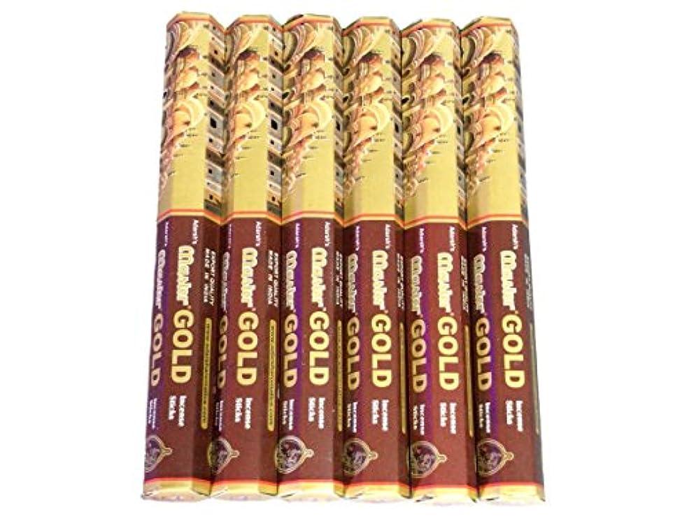 冷蔵庫エコー石のADARSH AROMATICS(アダーシュアロマティクス) マスターゴールド香 スティック MASTER GOLD 6箱セット