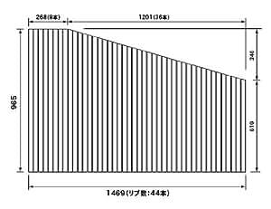 パナソニック 風呂ふた RLFK76MF1KKRC 965×1469mm (リブ数 : 44本) ( RLFK76MF1KKR 代替品 )