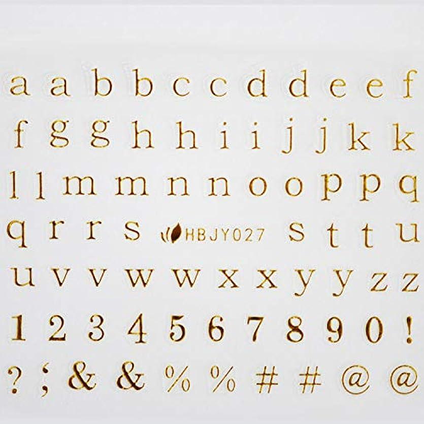 地図ハンディキャップ詳細にアルファベットやメッセージ柄のネイルシール (ローマン小文字GOLD)