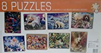 8 puzzles-in-one、8個100 Piece Jigsaws in 1ボックス