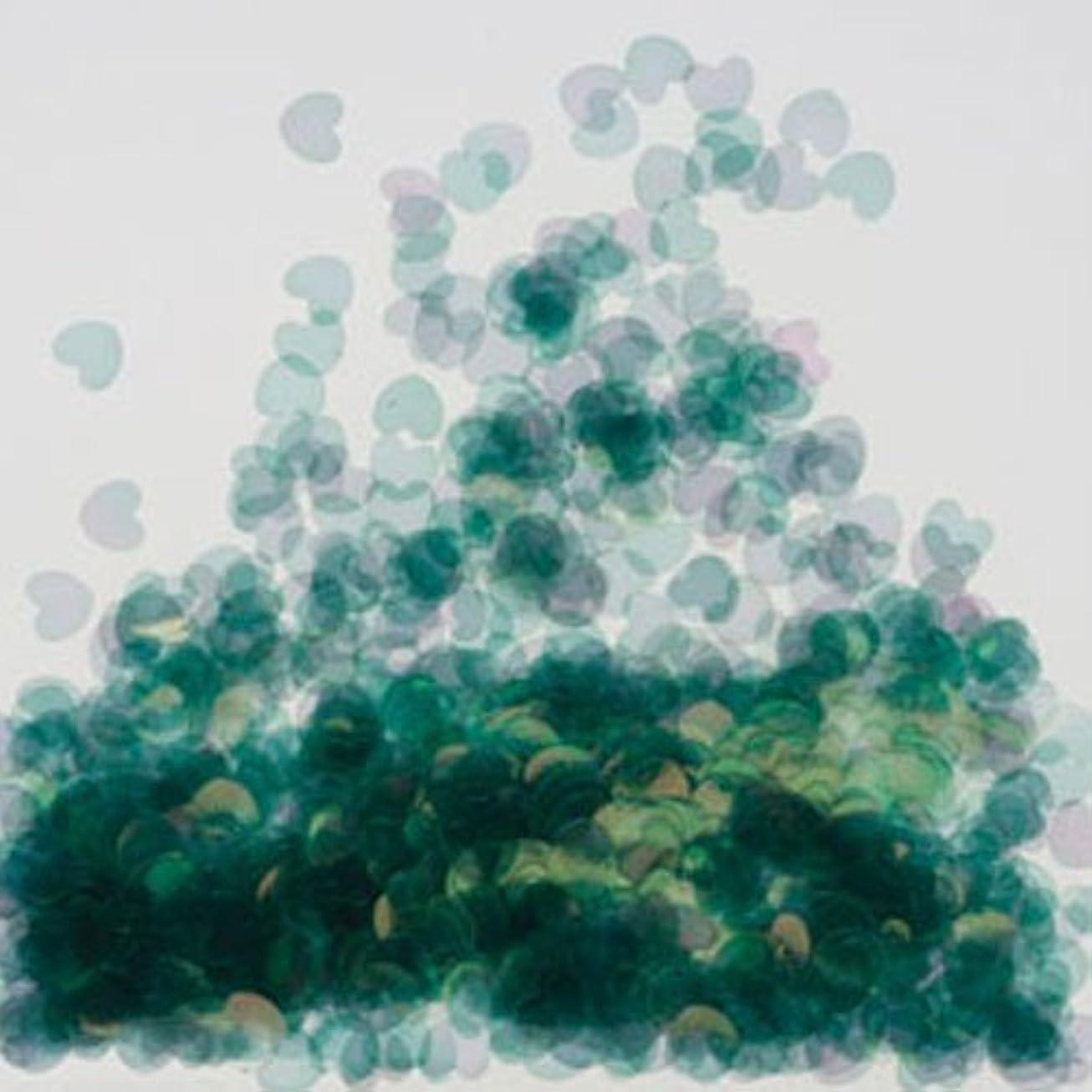 カウンタはしご観察するピカエース ネイル用パウダー ミニハートオーロラ 耐溶剤 #270 グリーン 0.5g