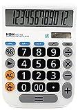 HDH 電卓 12桁 大型 くっきり見やすい数字 シンプル電卓 HDC-Y03 ホワイト