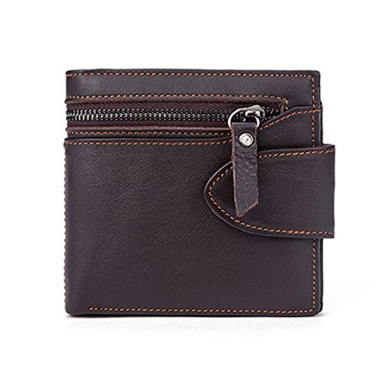 レザーメンズウォレットショートマルチカードレザー財布財布ウォレット横