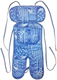 ベビーカー ベビーキャリー 保冷シート ひんやりサポートクッション 保冷(保温)剤2個付き クッション エルゴ (バンダナ(接触冷感))